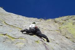 Rock Climbing Photo: Just starting the second pitch on the first ascent...