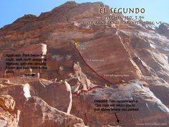 Rock Climbing Photo: Route Overlay El Segundo.
