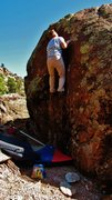 Rock Climbing Photo: Working the upper reaches of The Habit. Fantastic ...