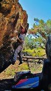 Rock Climbing Photo: Pulling the gaston to reach the edge on Vivify.