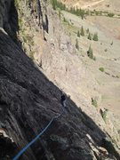 Rock Climbing Photo: Hardrock Miner looking down at the belay for pitch...