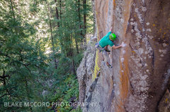 Rock Climbing Photo: Jeff Snyder on the second ascent. Photo : Blake Mc...