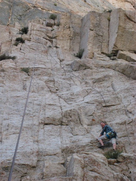 Rock Climbing Photo: Start of the bolted section.