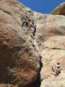 Rock Climbing Photo: Mindy sending  Awakening to Fat Mosquitoes.