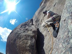 Rock Climbing Photo: Matt giving a serious belay to Mind.