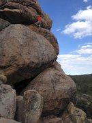 Rock Climbing Photo: Chris on Supercalibelgolistic (5.9), Holcomb Valle...