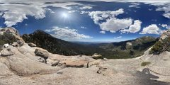 Rock Climbing Photo: photosphere of the top of Tahquitz