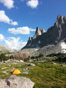 Rock Climbing Photo: campsite in the cirque!