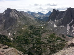 Rock Climbing Photo: A pic of the cirque meadow (from pingora) between ...