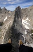 Rock Climbing Photo: Sitting on the north edge of Pingora looking at wo...