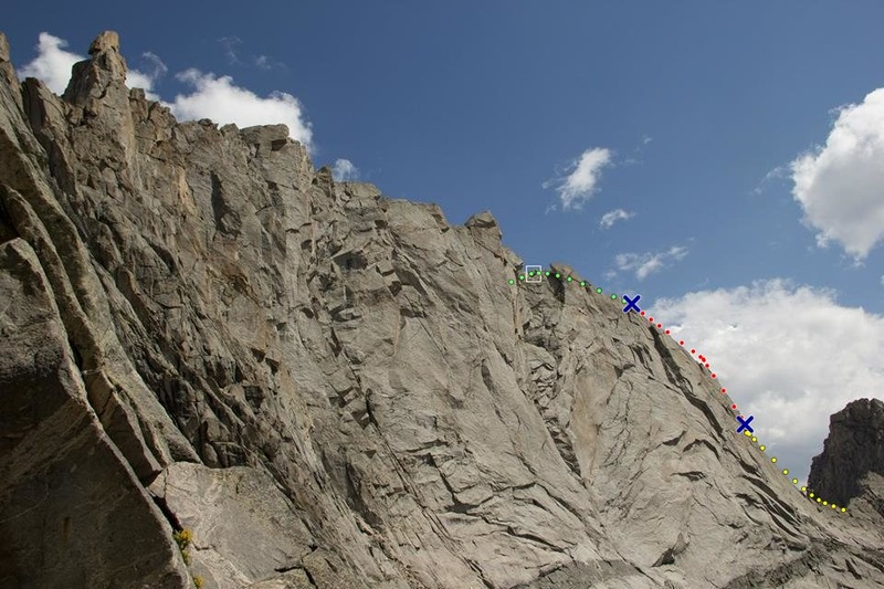 A view of the east ridge from overhanging tower area.