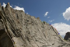 Rock Climbing Photo: A view of the east ridge from overhanging tower ar...