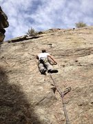 Rock Climbing Photo: Mark low on the route.