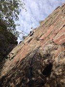 Rock Climbing Photo: Mark about halfway up.