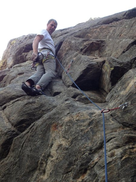 Rock Climbing Photo: Just above the first crux on a rest.