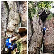 Rock Climbing Photo: The start and middle of Birch Tree Corner, showing...