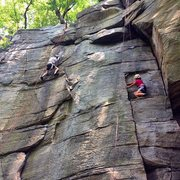 Rock Climbing Photo: A climber on Tennessee. Photo by Kari Post.