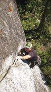 Rock Climbing Photo: Derek near the end of A hatch. You finally can get...