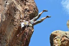 Rock Climbing Photo: flagpolling