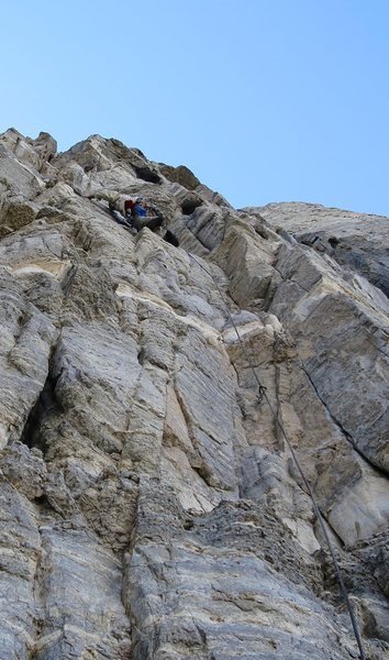 Rock Climbing Photo: A delicate and somewhat ill-protected traverse to ...