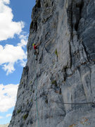 Rock Climbing Photo: Start of the ninth pitch.