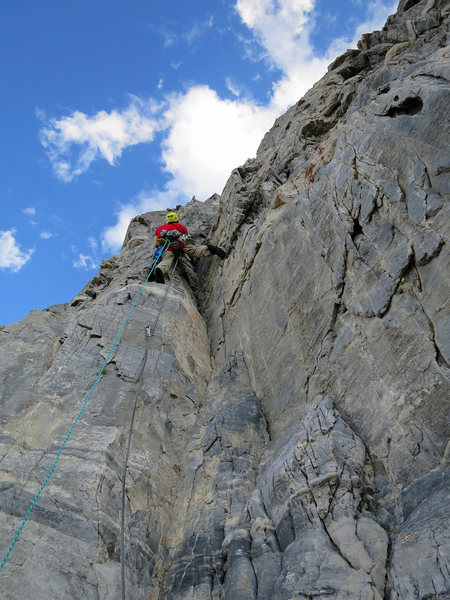 Rock Climbing Photo: The last pitch (12) approximately 40 or 50 feet fr...
