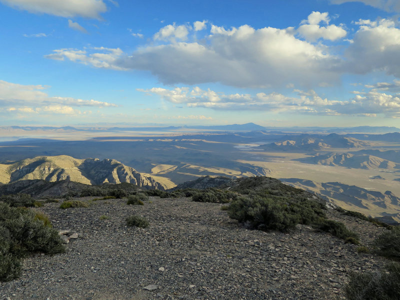 Rock Climbing Photo: View from the top looking south toward Ibex.