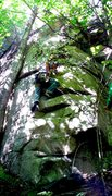 Rock Climbing Photo: Chris Kreutzer on the first lead ascent of The Pot...