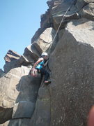 Rock Climbing Photo: Christine starting to flunk out
