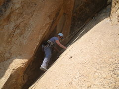 Rock Climbing Photo: Nancy on Munchkin Land