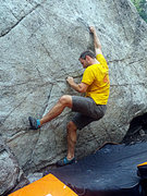 Rock Climbing Photo: Right of Middle boulder problem