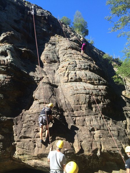 The SIUC Recreation Department and the Intro To Rock Climbing Class