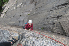 Rock Climbing Photo: Chitlin, P.2. Sara is smiling because: 1) all ten ...