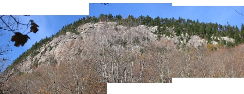 Rock Climbing Photo: Panorama of the slab from Cedar River Rd.