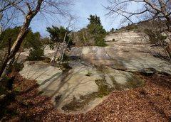 Rock Climbing Photo: The start of Magic Carpet Ride.  Start at the low ...