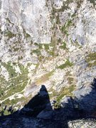 Rock Climbing Photo: The impressive shadow of the Watchtower, as seen f...