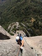 Rock Climbing Photo: Rob Beno following the fantastic P5