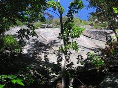 Rock Climbing Photo: Deja View follows the crack just left of center.  ...