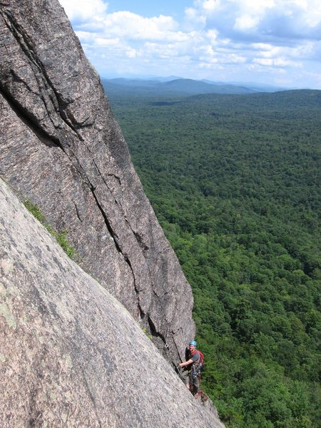 Rock Climbing Photo: The stunning corner of the 3rd pitch.