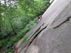 Rock Climbing Photo: Starting up Sole Fusion.