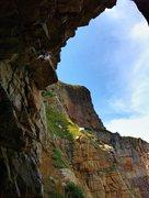 Rock Climbing Photo: Local badass risking his life