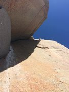 Rock Climbing Photo: Nick, near the topout of Kingpin.  Another great p...