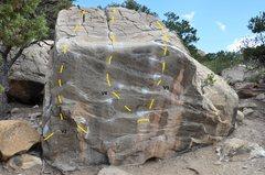 Rock Climbing Photo: Pimpin Jeans Rock V2 - Stinky Jean V4 - Pimpin Jea...