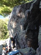 Rock Climbing Photo: Sticking the crux move, photo credit Cole Keesler