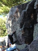 Rock Climbing Photo: Crossing under, photo Cole Keesler.