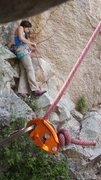 Rock Climbing Photo: 60m barely making the bottom. I recommend using a ...