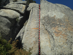 Rock Climbing Photo: Looking straight up the Enemy Within OW