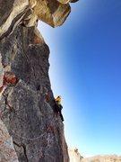 Rock Climbing Photo: Sam on pitch 3