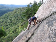 Rock Climbing Photo: Looking out toward Cedar River Flow from the top o...