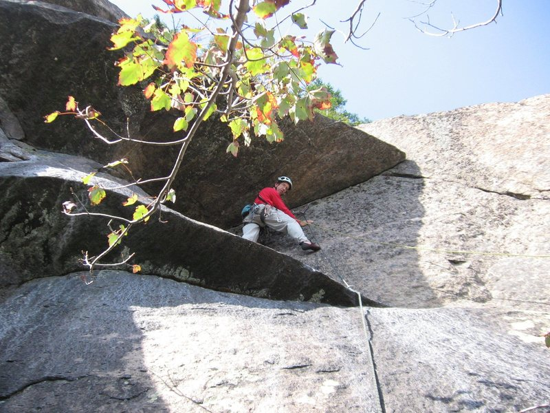 The Direct Finish variation to Heroes (unconfirmed 5.9)  Getting the gear before committing to the undercling moves out around the point.